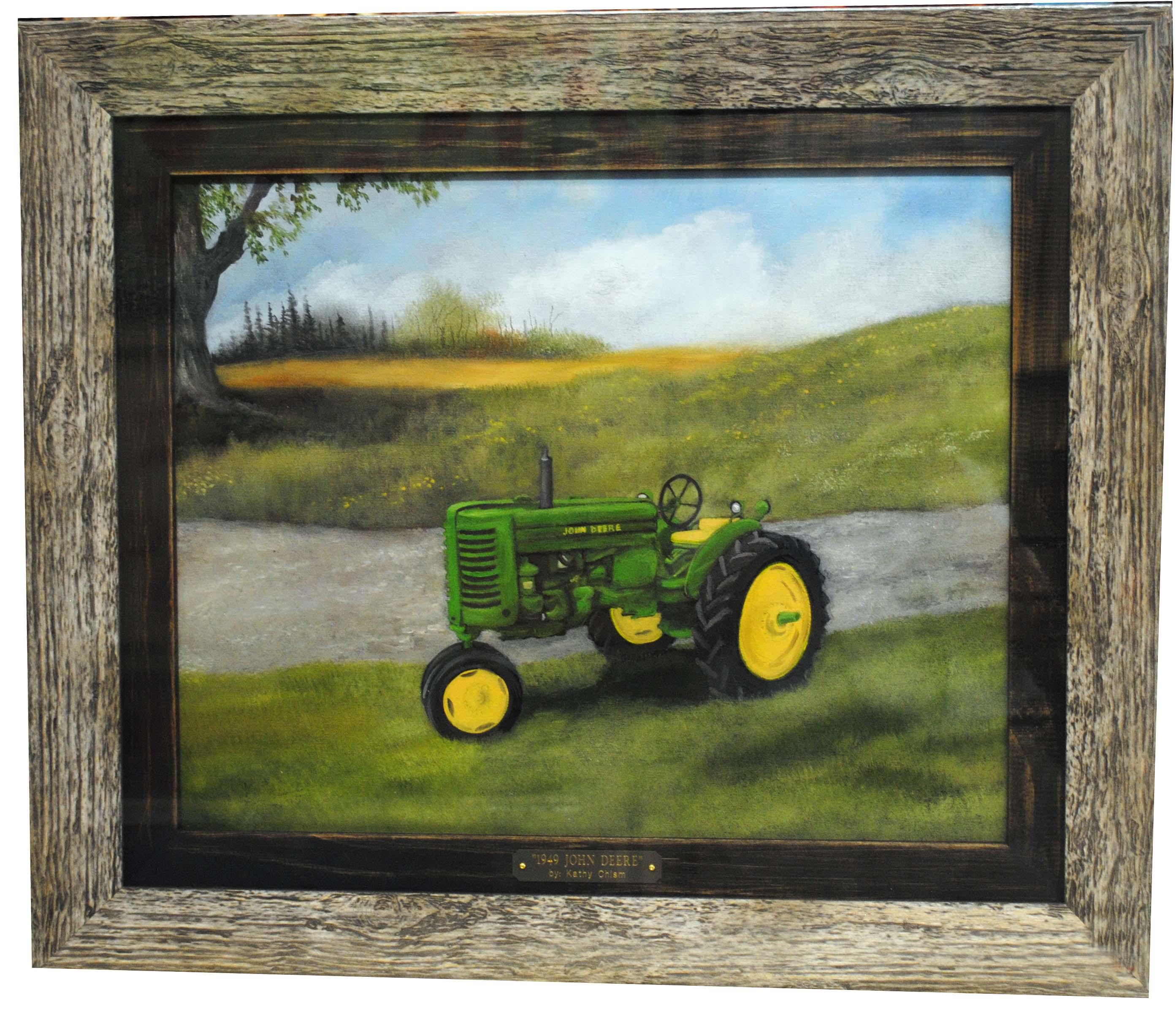 Kathy chism owensboro ky studio 105 art frame title john deere size 16 x 20 price 485 item kc016or medium oil jeuxipadfo Images